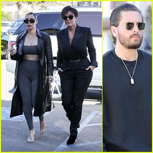 Kim Kardashian, Kris Jenner & Scott Disick Head to Lunch Together!