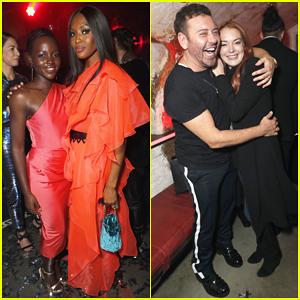Lupita Nyong'o, Naomi Campbell & Lindsay Lohan Step Out for Mert Alas' Birthday Party!
