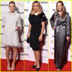 Margot Robbie Joins Salma Hayek Pinault & Allison Janney at BAFTAs Nominees Party