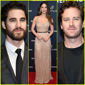 Olivia Munn Joins Darren Criss & Armie Hammer at Breitling Dinner in NYC