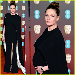 Pregnant Rebecca Ferguson Debuts Baby Bump at BAFTAs 2018