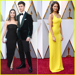 Baby Driver's Ansel Elgort & Eiza Gonzalez Step Out For Oscars 2018