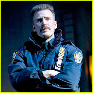 Chris Evans Sports a Mustache in New 'Lobby Hero' Photos!