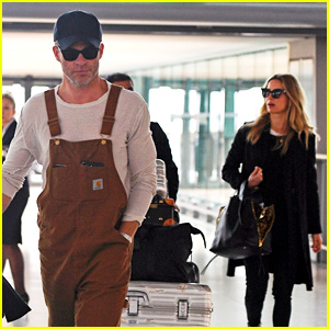 Chris Pine & Annabelle Wallis Photographed Together in London