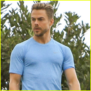 Derek Hough Shows Off His Buff Muscles During Photo Shoot!