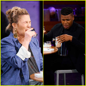Drew Barrymore & John Boyega Play 'Spill Your Guts or Fill Your Guts' With James Corden - Watch!