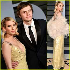 Emma Roberts & Evan Peters Are Picture Perfect at Vanity Fair Oscars Party 2018!