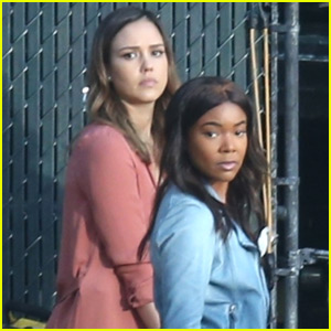 Jessica Alba & Gabrielle Union Spring into Action Filming 'Bad Boys' TV Spinoff