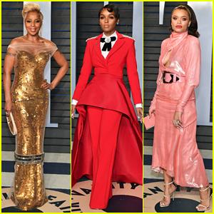 Mary J. Blige, Janelle Monáe & Andra Day Stun at Vanity Fair Oscars Party 2018!