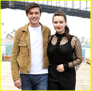 Nick Robinson & Katherine Langford Look Sharp at 'Love, Simon' Photo Call in Australia