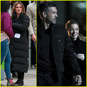 Rachel Bilson & Eddie Cibrian Film 'Take Two' as His Wife LeAnn Rimes Visits Set!