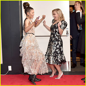 Reese Witherspoon & Storm Reid Dance It Out at Oprah Magazine's 'A Wrinkle in Time' Screening!
