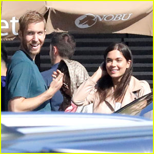 Calvin Harris & On-Again Girlfriend Aarika Wolf Couple Up for Nobu Sushi Date