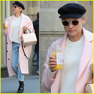 Diane Kruger Looks Pretty in Pink While Stepping Out in NYC