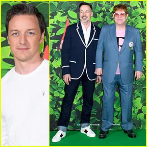 James McAvoy Joins Elton John & David Furnish for 'Sherlock Gnomes' Screening!