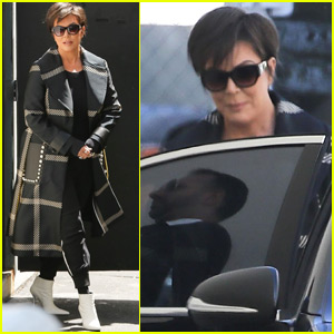 Kris Jenner Spends the Afternoon at the Studio in Calabasas