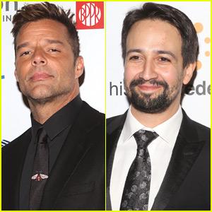 Ricky Martin & Lin-Manuel Miranda Suit Up for Hispanic Foundation Gala in NYC