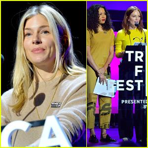 Sienna Miller Joins Julianne Moore & Jurnee Smollett-Bell at Time's Up Talk