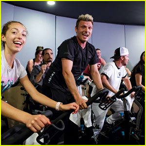 Backstreet Boys Surprise Fans During Cycle Class at Flywheel!