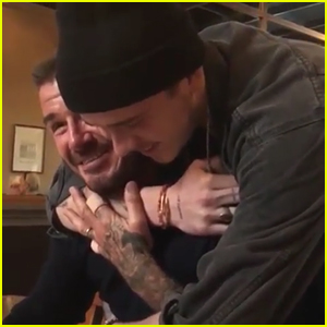 David Beckham Gets Emotional After Brooklyn Surprises Him on His Birthday - Watch!