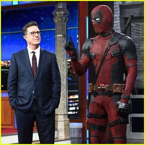 Ryan Reynolds' Deadpool Crashes Stephen Colbert's Monologue - Watch Now!