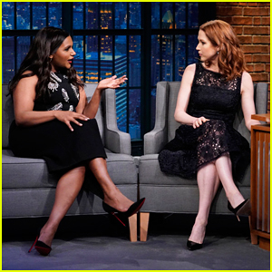 Ellie Kemper & Mindy Kaling Reminisce About Their 'The Office' Girl Group on 'Late Night'!