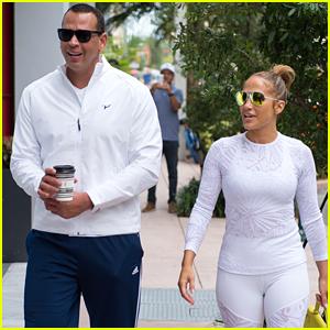 Jennifer Lopez & Alex Rodriguez Hit Up the Gym in Miami