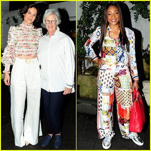 Katie Holmes & Mother Step Out to Support Ava DuVernay at 'Queen Sugar' Garden Party!