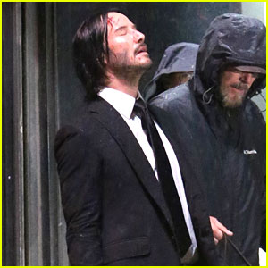 Keanu Reeves Gets Caught in the Rain Again for 'John Wick'