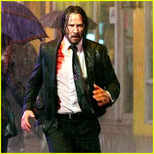 Keanu Reeves Is Bloody & Soaking Wet in 'John Wick 3' Set Photos!