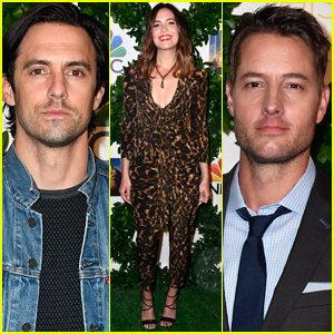 Mandy Moore Joins Milo Ventimiglia & Justin Hartley at 'This is Us' Emmy Promotional Event!