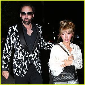 Nicolas Cage Sports Zebra Print Jacket for Date with Erika Koike
