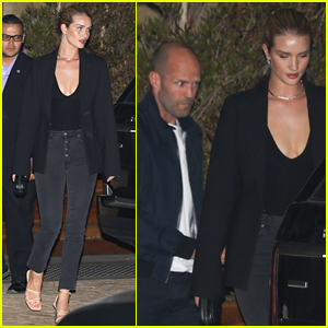 Rosie Huntington-Whiteley & Jason Statham Step Out for Date Night in Malibu!