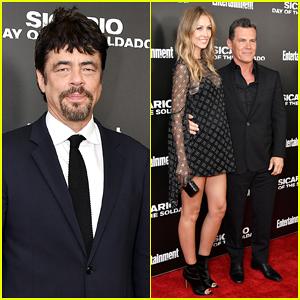 Benicio del Toro & Josh Brolin Team Up for 'Sicario: Day Of The Soldado' New York Screening!