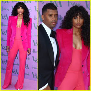 Ciara & Russell Wilson Couple Up for V&A Summer Party in London