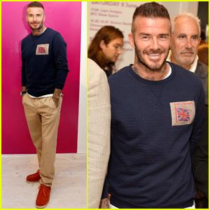 David Beckham Kicks Off Men's Fashion Week With British Fashion Council