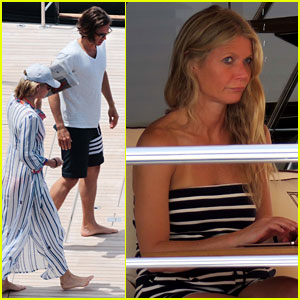 Gwyneth Paltrow Relaxes On a Yacht in Italy with Brad Falchuk