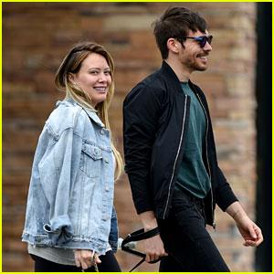 Hilary Duff Goes For a Dog Walk with Boyfriend Matthew Koma