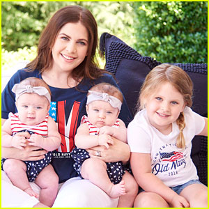 Lady Antebellum's Hillary Scott Wears Old Navy Flag Tees with Her Three Daughters!