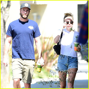Miley Cyrus & Liam Hemsworth Kick Off Their Day with Green Juices