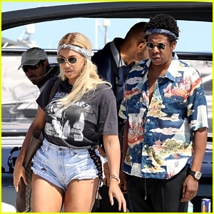 Beyonce & Jay-Z Enjoy Time Together on a Yacht in France!