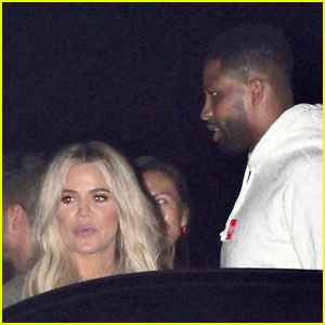 Khloe Kardashian Has Night Out with Tristan Thompson & LeBron James!
