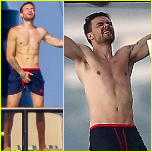 Liam Payne Dances & Works Out While Shirtless On a Yacht!