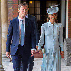 Pregnant Pippa Middleton Arrives for Prince Louis' Christening with Husband James Matthews