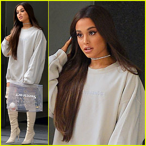 Ariana Grande Steps Out After Releasing New Album 'Sweetener'