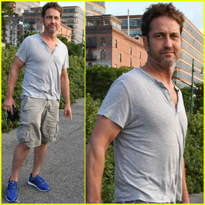Gerard Butler Takes a Solo Stroll in New York City!