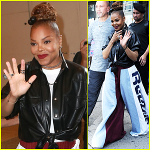 Janet Jackson Steps Out to Promote New Single 'Made for Now' in NYC