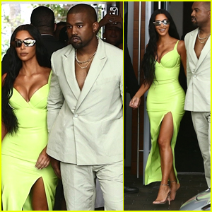 Kim Kardashian & Kanye West Step Out in Style for 2 Chainz's Wedding in Miami