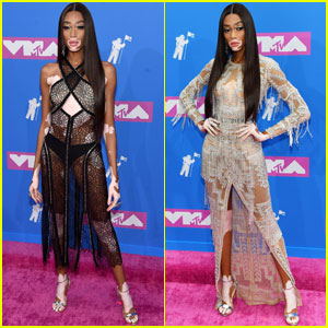 Winnie Harlow Shows Off 2 Red Carpet Looks at MTV VMAs 2018