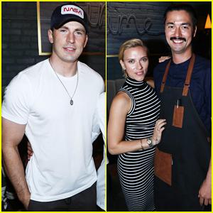 Chris Evans & Scarlett Johansson Celebrate 'Avengers: Infinity War' Director Joe Russo's New L.A. Restaurant!
